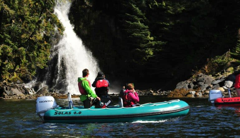 Zodiac Boat Scenic Tour Ketchikan Splash
