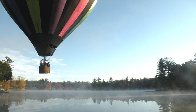 Hot Air Balloon Ride Manchester Fog
