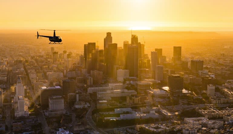 Private Helicopter Ride Los Angeles, Sunset Tour with Champagne - 1 Hour