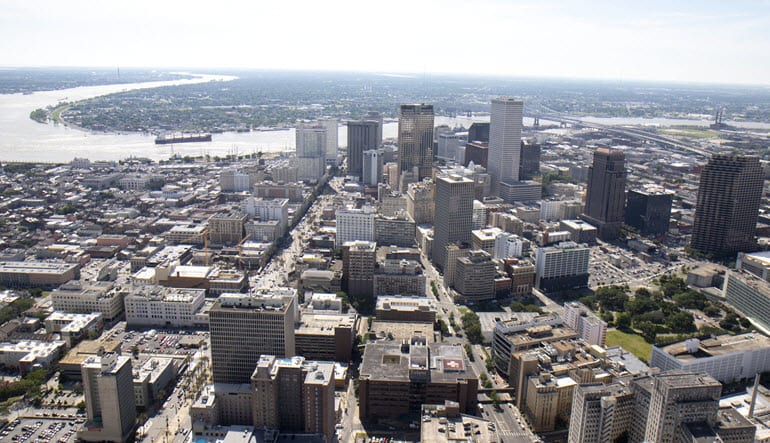 Helicopter Ride New Orleans City Above