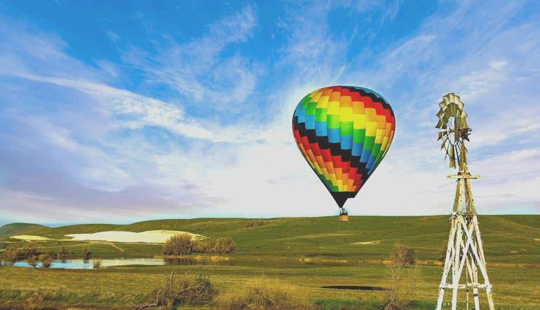 Hot Air Balloon Ride Sacramento Rainbow