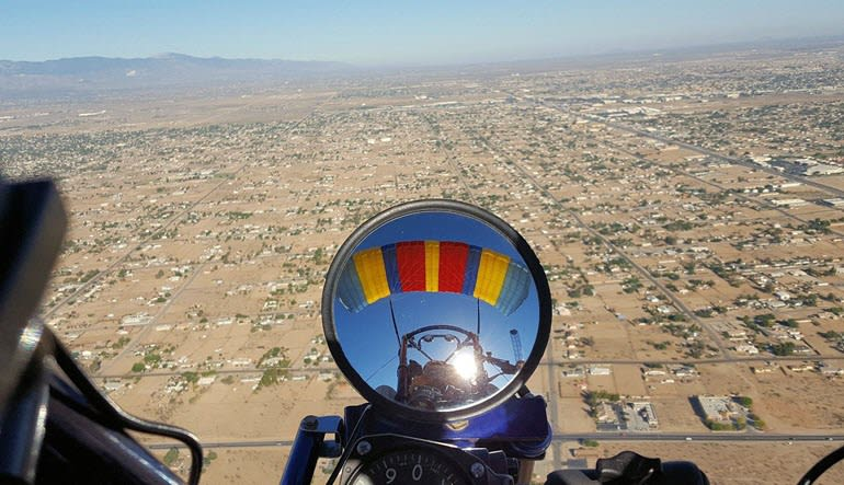Powered Parachuting Apple Valley Mirror View