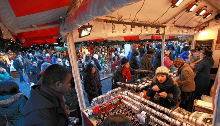 New York City Walking Tour Holiday Markets