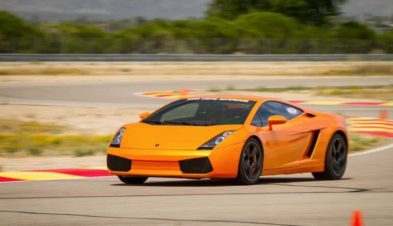 Lamborghini Gallardo Drive Orange