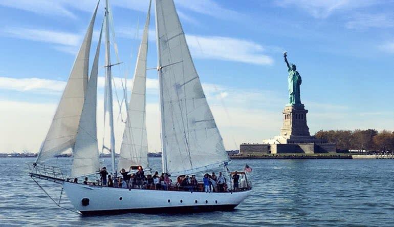 Sailing, Manhattan Daytime Statue Sail Liberty