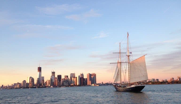 Sailing, Manhattan Twilight Tall Ship Discovery Cruise Dusk
