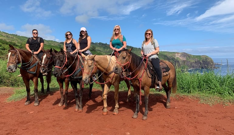 Horseback Riding Maui Red Soil