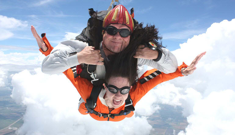 Skydive Tandem Greenville Orange