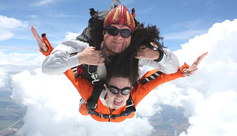 Skydive Tandem Greenville Orange