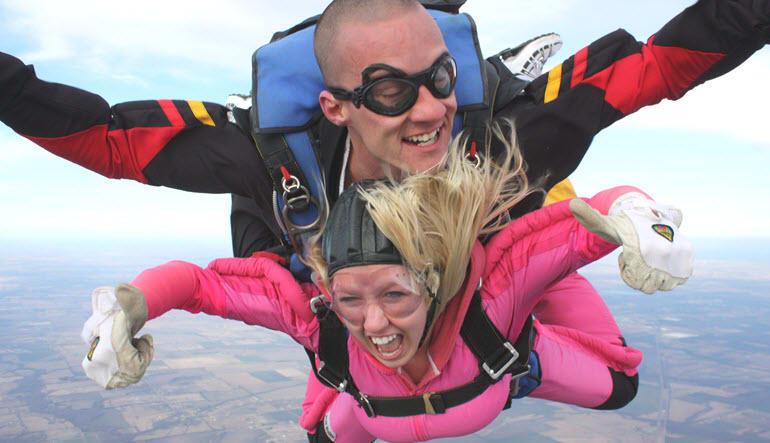 Skydive Tandem Greenville Pink