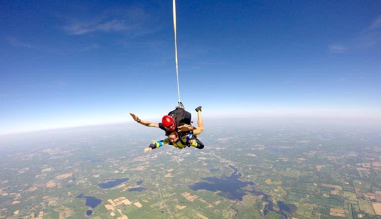 Skydive Tecumseh Coming Down