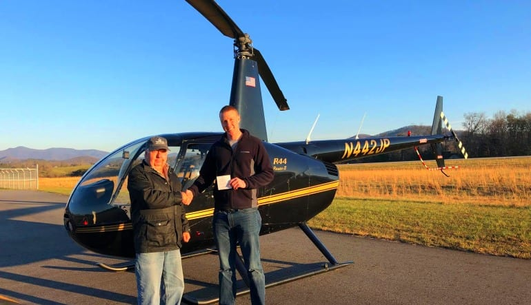 Helicopter Introductory Flight Lesson Completion