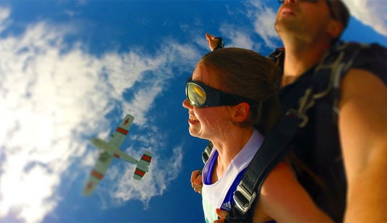Skydive Hartford Plane Background