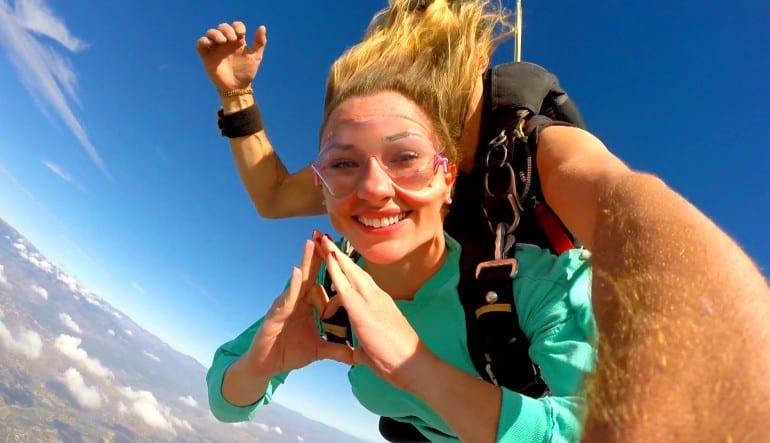 Skydive Los Angeles Weekend Heart