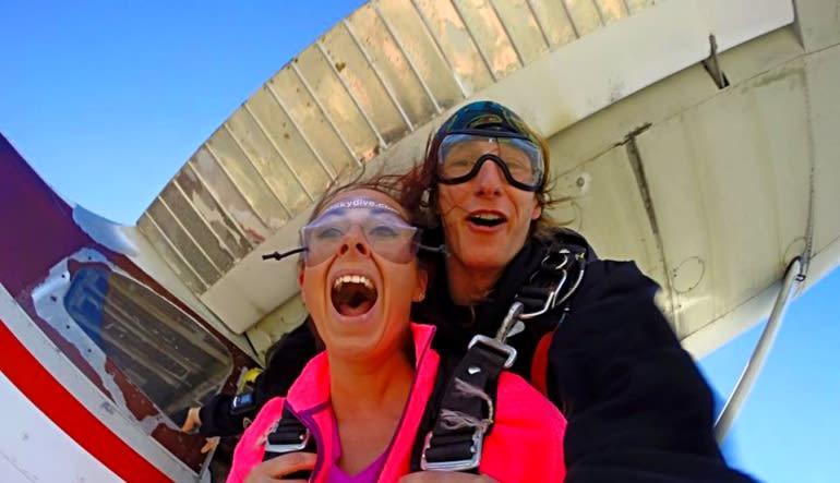Skydive Baltimore Free Falling