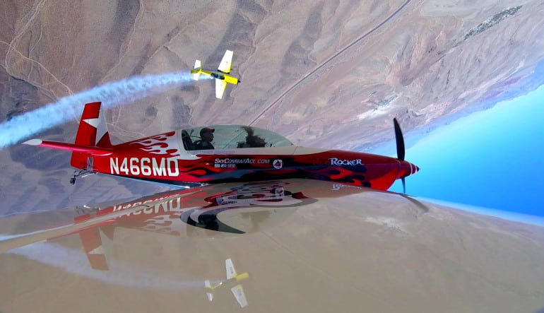 Aerobatic Flight Lesson Las Vegas Upside Down