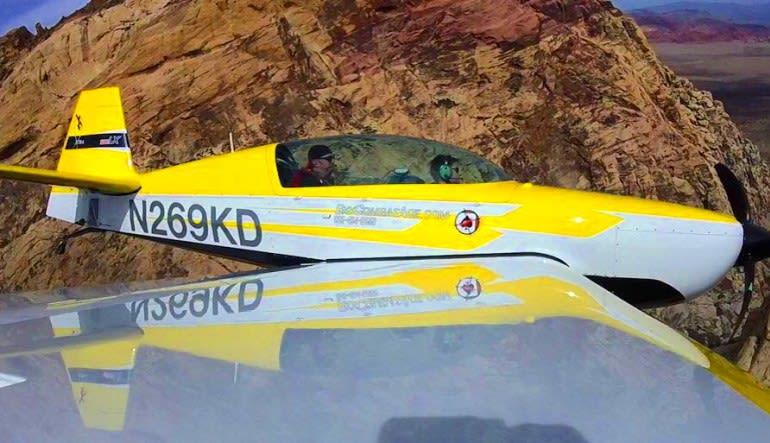 Sky Combat Dogfighting Experience Las Vegas Yellow