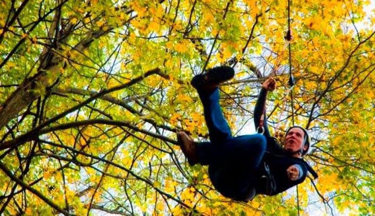 Person Deal: Ziplining Harpers Ferry, 8 Zip Adventure Fall