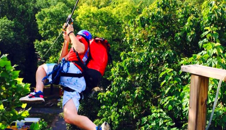 Person Deal: Ziplining Harpers Ferry, 8 Zip Adventure Leap