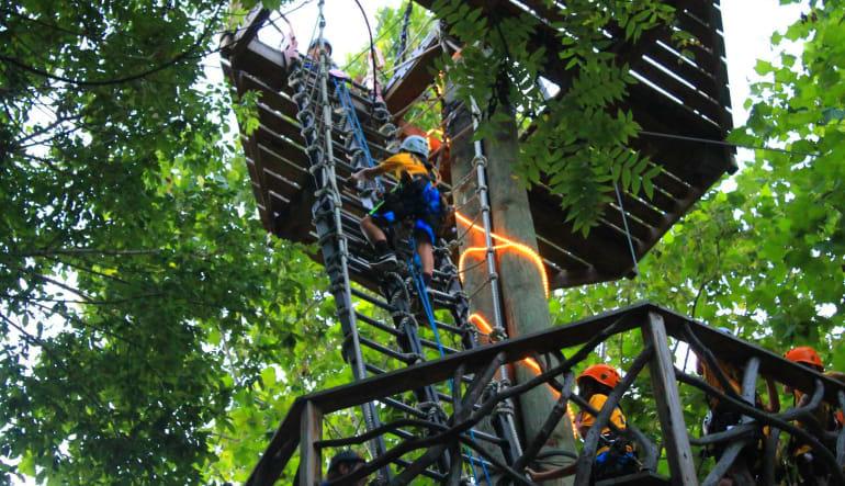 Ziplining Harpers Ferry, 8 Zip Adventure Climb