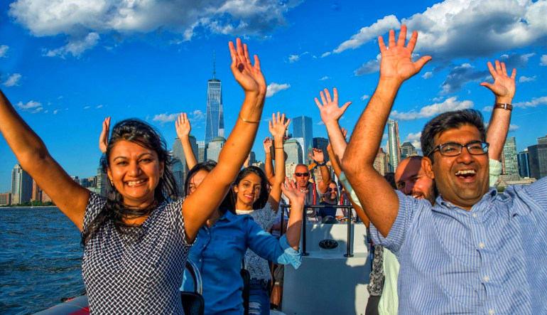 Hi-Speed RIB Tour New York City Hands Up