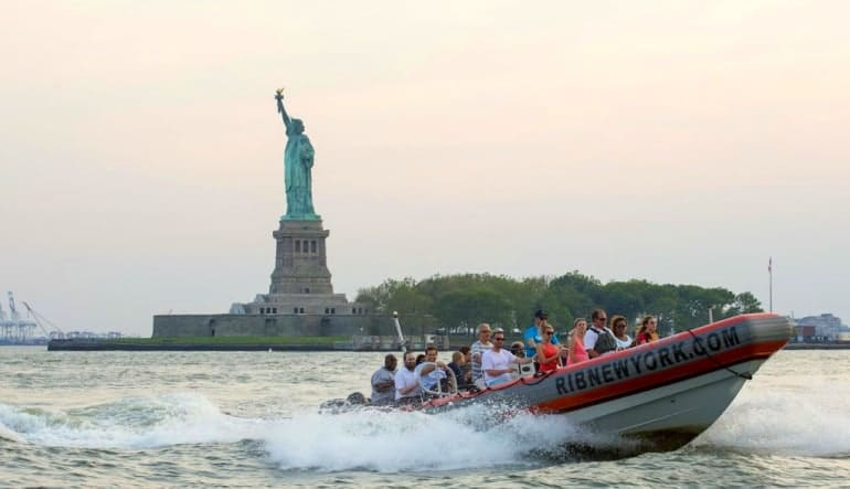 Hi-Speed RIB Tour New York City Statue Liberty