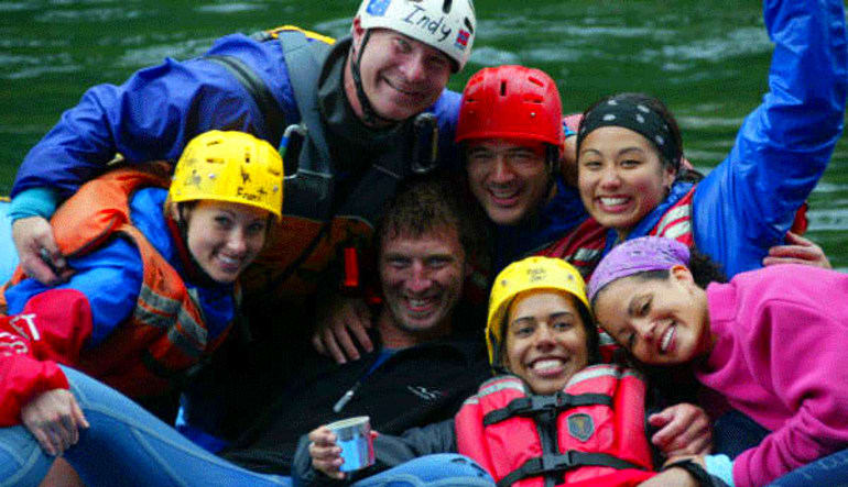 Whitewater Rafting Seattle Skykomish River Happy