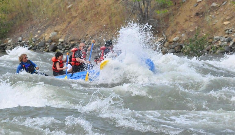 Whitewater Rafting Seattle Skykomish River Splash