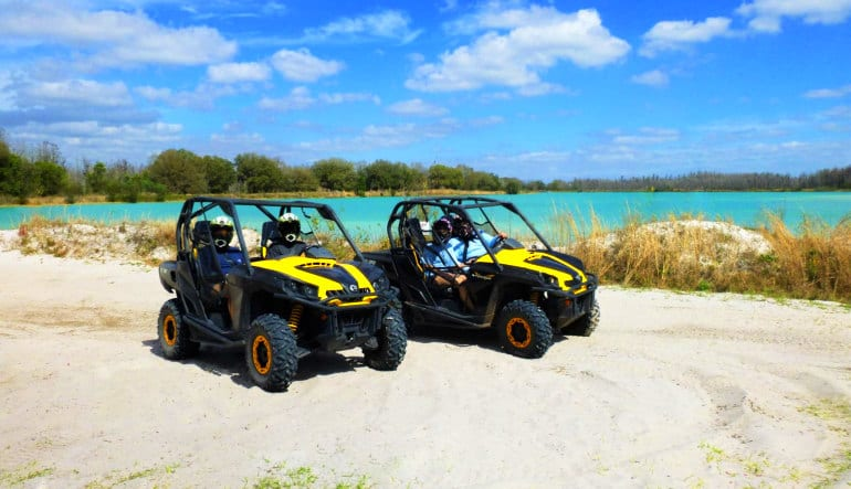 Side-By-Side RZR Drive Water & Sand