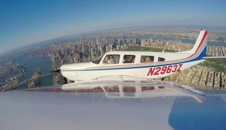 New York City Scenic Plane Tour Aircraft Inflight