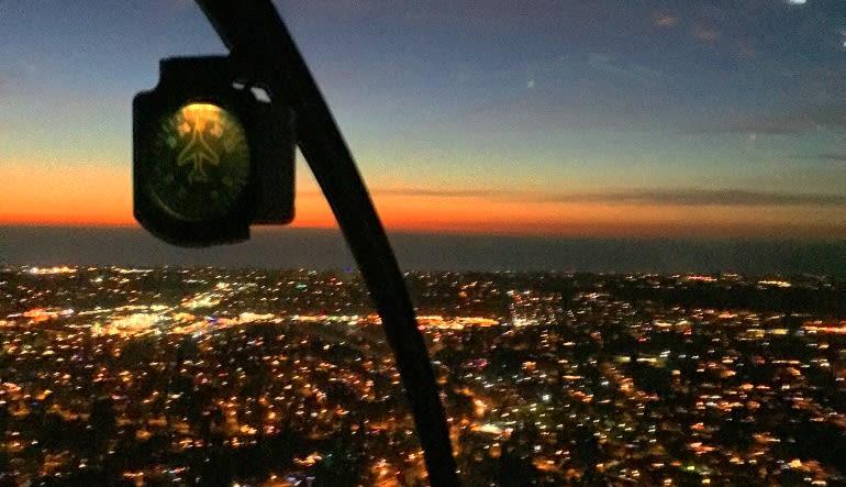 Helicopter Ride Oceanside - 30 Minute Night Flight Dusk