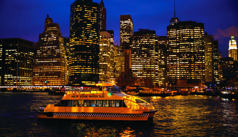 NYC Helicopter Tour & Statue of Liberty Cruise Night Lights