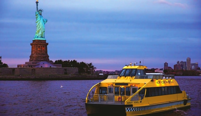 NYC Helicopter Tour & Statue of Liberty Cruise