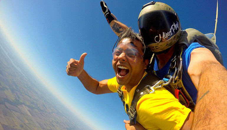 Skydiving Dallas Yellow Shirt