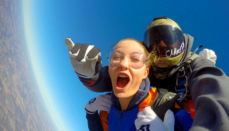 Skydiving Dallas Woman