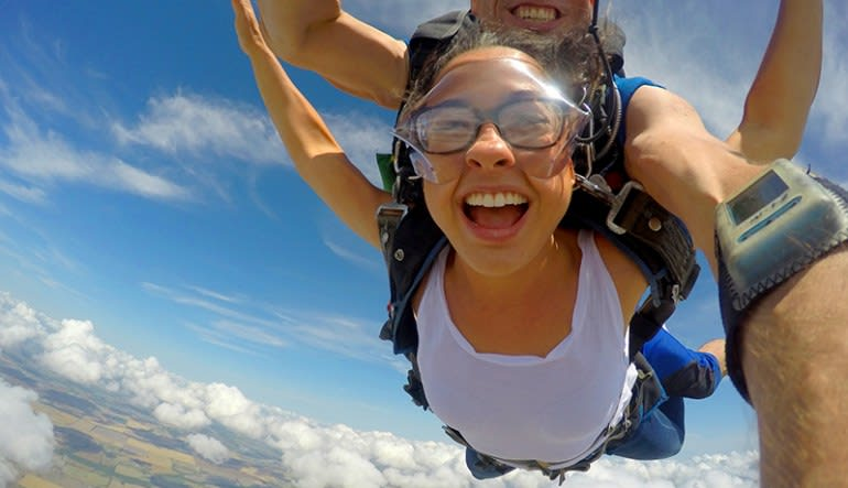 Skydiving Dallas Lady