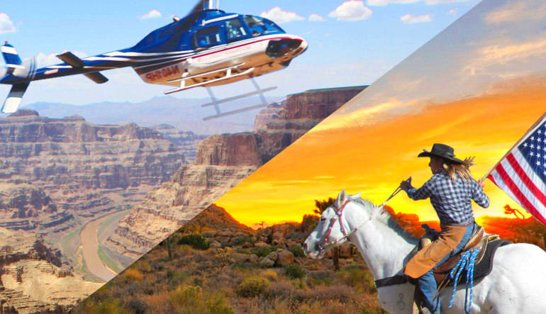 elicopter Tour Grand Canyon West with Horseback Ride