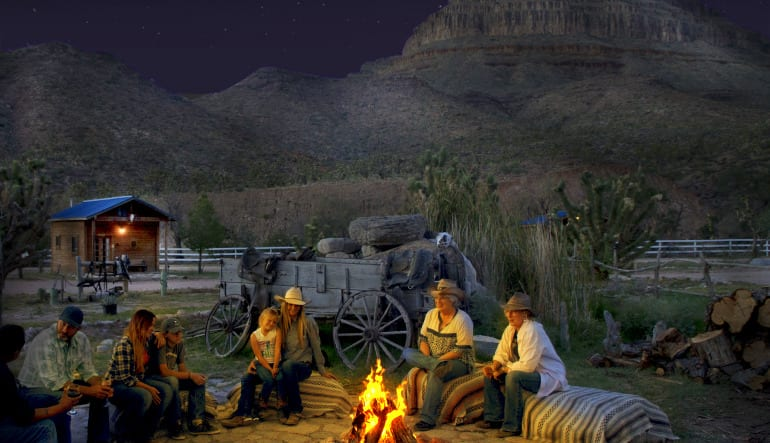 Horseback Riding Grand Canyon Western Ranch with Dinner Campfire