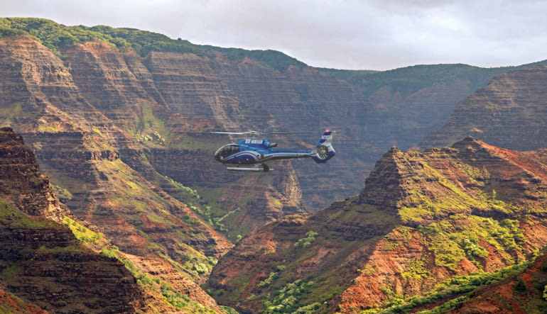 Helicopter Tour Kauai ECO Adventure Flight Hills