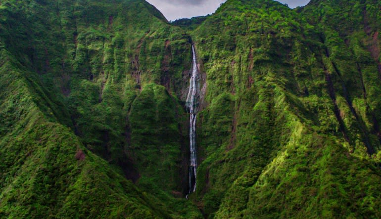 Helicopter Tour Kauai ECO Adventure Flight Waterfall