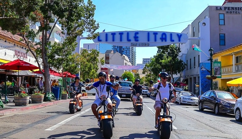 Electric Scooter Tour San Diego Little Italy
