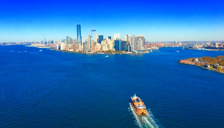 Private New York City Helicopter Tour Boat