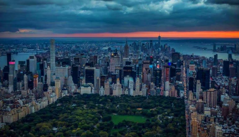 Private New York City Helicopter Tour Central Park Dusk