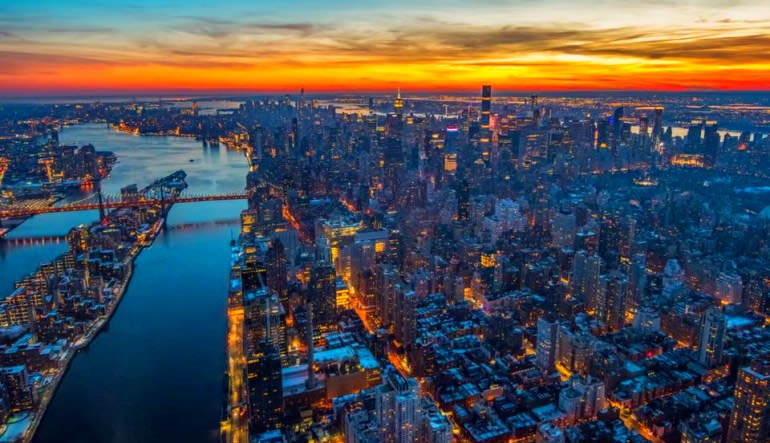Private New York City Helicopter Tour Sunset Colours