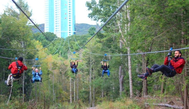 Foxwoods HighFlyer Zipline Zipping