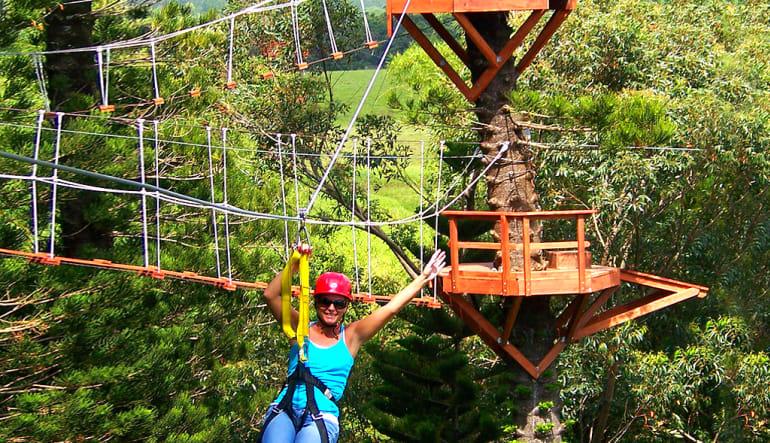 Zipline Treetop Tour Kauai