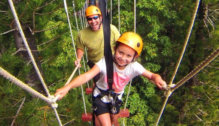 Zipline Treetop Tour Kauai Little Girl
