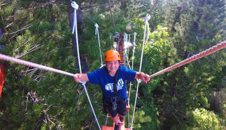Zipline Treetop Tour Kauai Boy
