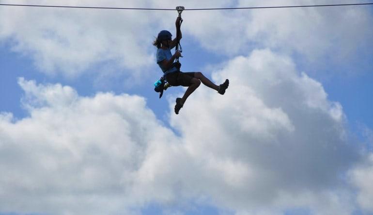 Wikiwiki Zipline Kauai  Little Girl