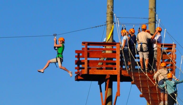 Wikiwiki Zipline Kauai  Landing Platform